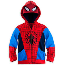 New Autumn and winter The boy casual Hooded Jacket Coat stitching long sleeved sweater children's cartoon spider man child gift