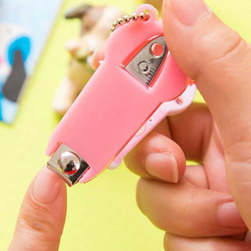 1pcs/Lot Nail Clippers With Key Chains Lovely Cartoon Shape Pedicure ...