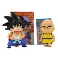 2 unids/set Anime Dragon Ball Z Super Saiyan Goku Krilin Acción PVC Figure modelo Niños Juguetes Goku Krilin colección regalo