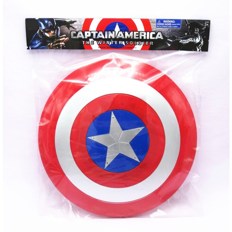 цена на 2018 Fashion Avenger Super Hero Cosplay captain america Action Figure Light-Emitting Sound Cosplay property Toy Metallic shield