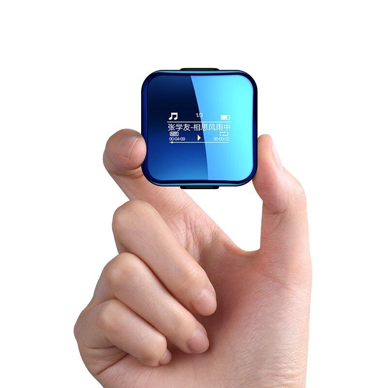 Yescool X1 8 GB Bluetooth lecteur MP3 hifi lecteur de musique sport sans perte mini Dictaphone pour jogging baladeur avec Clip et brassard