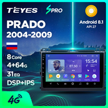 TEYES SPRO Штатное Головное устройство For Toyota Land Cruiser Prado 2003-2009 GPS Android 8.1 магнитола автомагнитолы Андроид для Тойота Ленд Крузер Прадо 3 J120 аксессуары штатная магнитола автомобильная мультимедиа