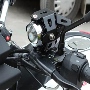 Image 4 - Huiermeimi farol de moto 125w, 2 peças, luz auxiliar, u5, acessórios para moto e rbike, 12v ponto de cabeça luzes