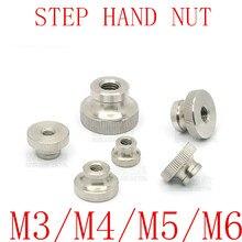 5 шт./лот M2 M2.5 M3 M4 M5 из нержавеющей стали с накаткой шаг пальцем руки гайка