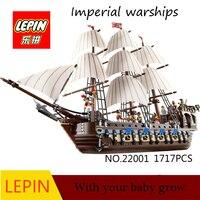 DHL LEPIN 22001 Pirate Ship Warships Model Building Kits Block Briks Boy Educational Toys Model Gift
