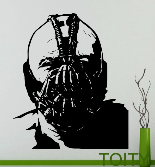 Bane wall decal cool comics supervillain vinyl sticker dorm club home interior decoration teen room mural