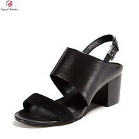Original Intention Super Stylish Women Sandals Nice Open Toe Chunky Heels Sandals Popular 5 Colors Shoes
