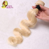 Facebeauty 613 Blonde Hair Brazilian Body Wave 1/3/4 Bundles Remy Hair Weave Human Hair Bundles Weft 8 To 30 inch Free Shipping