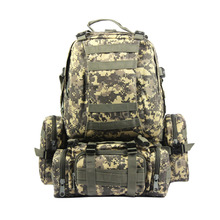 Boleh tanggal 60L Pelbagai fungsi Tentera Rakaman Taktikal Ransel Peluru Molle Pack Pack Trekking