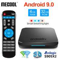 MECOOL KM9 DDR4 Android 9.0 Smart TV Box Amlogic S905X2 4GB 64GB 32GB USB3.0 4K H.265 2.4G 5GHz Dual Wifi BT4.1 ATV Set Top Box