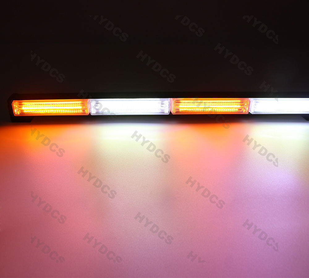 CYAN SOIL BAY 24 COB LED TRAFFIC LIGHT BAR EMERGENCY WARNING STROBE AMBER YELLOW WHITE 72W люстра накладная 06 2484 0333 24 gold amber and white crystal n light