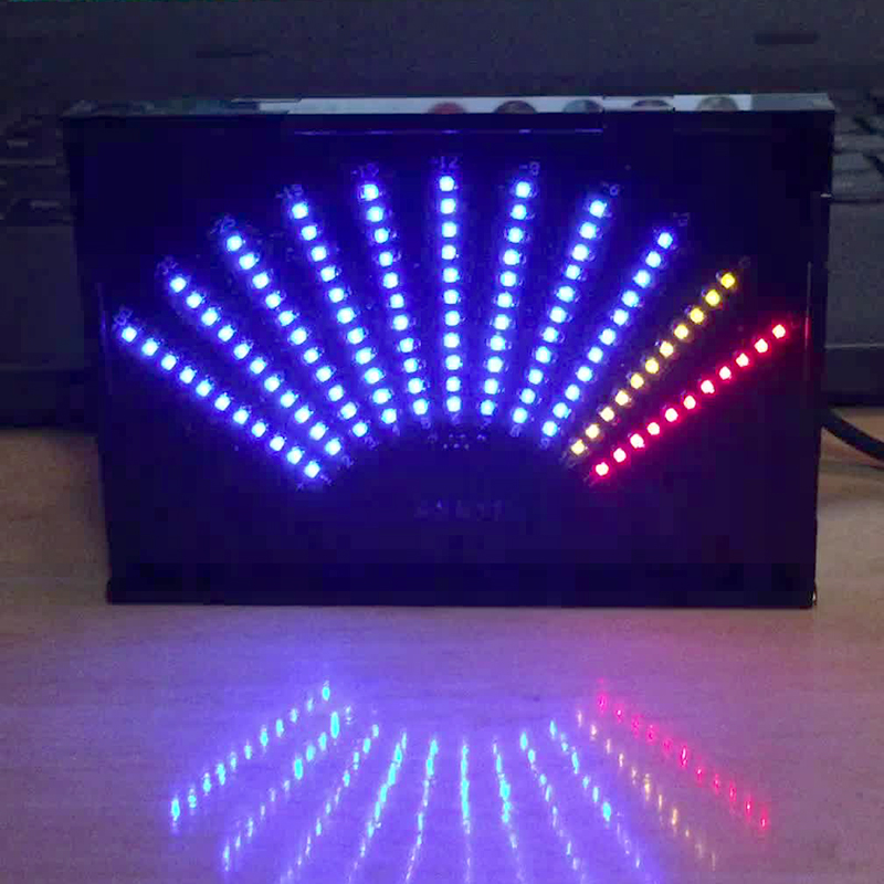 Aiyima ASK11 LED Music Audio Spectrum Display VU Meter Fan-shaped Pointer Level Indicating Amplifier With Case устройство аккордеона