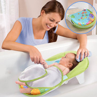 b50b76478 Collapsible Baby Bath Bed Bath Sling Chair Towels Bathtub Support Pad.  Cadeira Sling Toalhas de Banho ...
