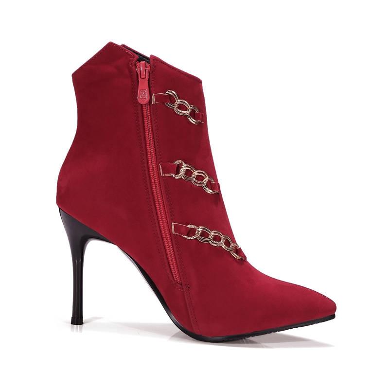 Il Alla Alti Cerniera Nero Nuovo Tacchi Di 2018 Eleganti Punta Modo Caviglia Donna Delle Stivali Inverno Scarpe Autunno Morazora Partito rosso Signore A AR4TUqx