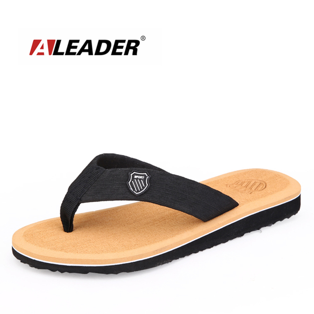 f0ab74179 ALEADER Classic Bechham Designer Flip Flops Men Summer Lightweight Shower  Sandals Beach Comfortable Slide Flip Flops