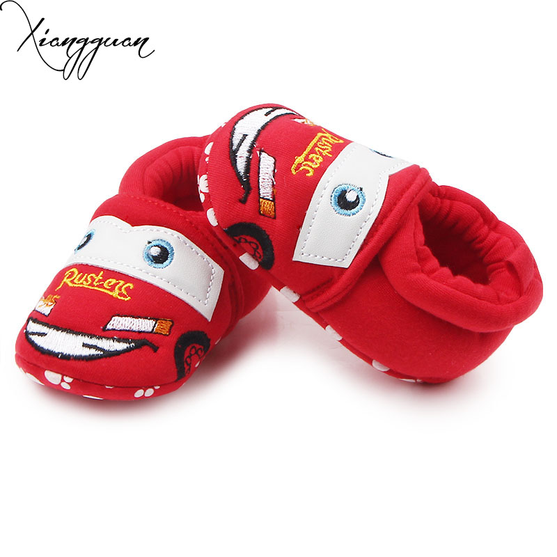 Новое поступление Детские хлопковые Обувь мультфильм вырезать автомобиля Младенческая малышей милый ребенок крючком Обувь для мальчиков ...