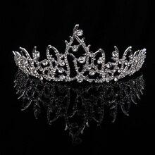 TUANMING Silver Hair Jewelry Crystal Crowns Bridal Tiaras Headband Women Headdress Rhinestone Handmade Wedding Hair Accessories