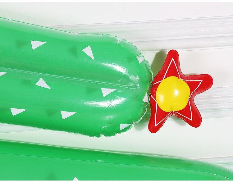 Rooxin inflável flutuante linha gigante cactus flutuante