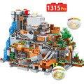 1315 шт Новые блоки Совместимые с органами пещеры строительные блоки замок деревня серии игрушки для детей