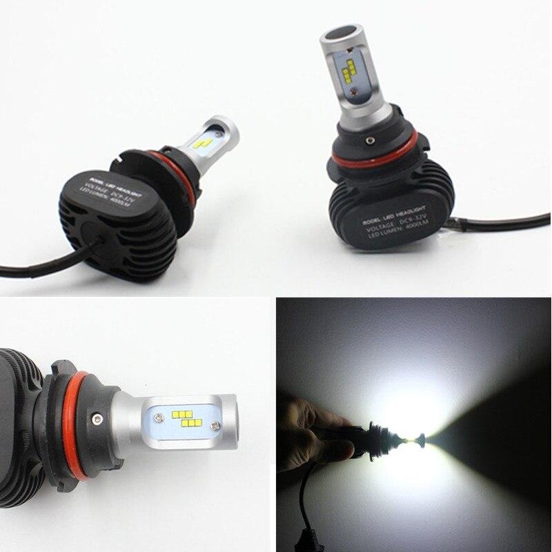 FSYLX voiture 9004 9007 phare LED Kit de Conversion hi-lo faisceau 50 W 8000LM 6500 K 9004 9007 LED ampoule anti-brouillard pour AUDI/TOYOTA/KIA