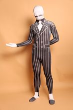 (A5-036)Black White Gentleman Lycra Spandex Zentai Suit Halloween Costume Fetish Zentai Suits For Party Celebration or Role Play