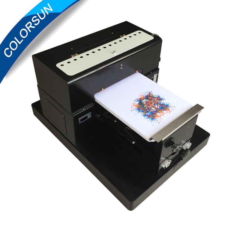 A3 size T-shirt Flatbed printer Digital Printing machine for printing T-shirt printer A3 size digital textile printer high quality dtg flatbed printer small size textile t shirt printing machine