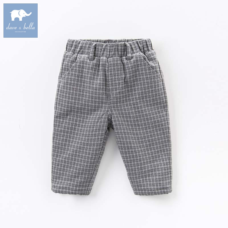 DB5612 dave bella winter baby boys full length kids fashion plaid pants children trousers db6938 dave bella winter baby girls full length kids fashion pink pants children trousers