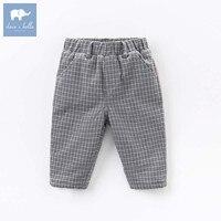 DB5612 dave bella winter baby boys full length kids fashion plaid pants children trousers