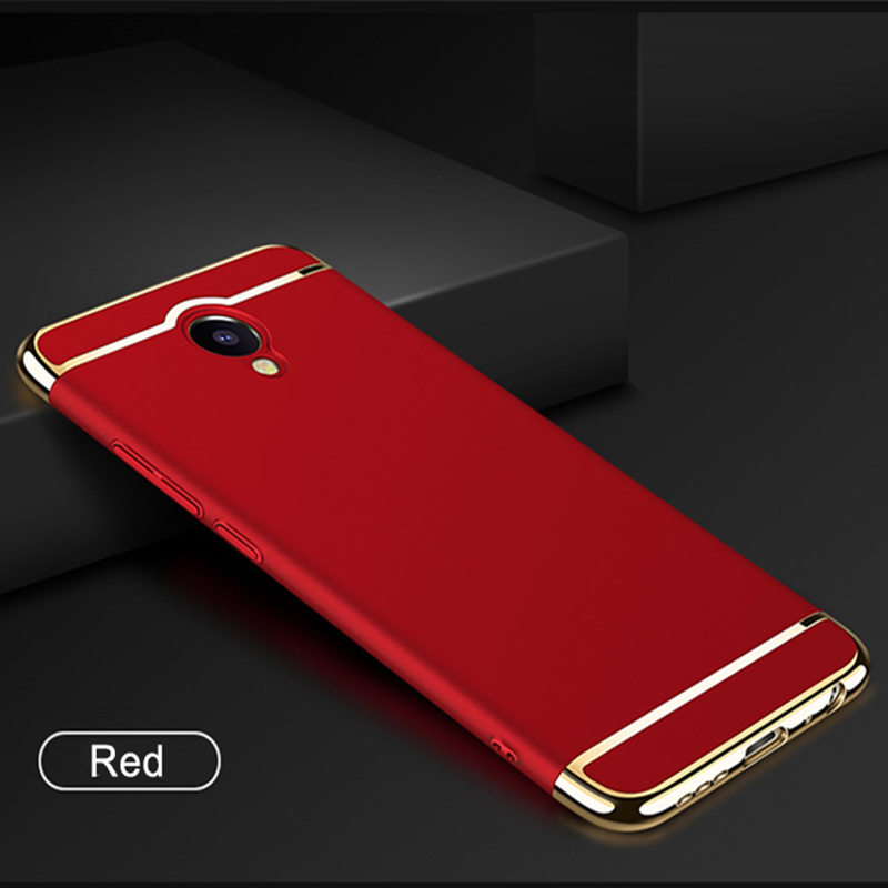 Luxury ultra-thin Frosted PC Cases For Meizu M5 Note 3 in 1 Design Plastic Plating Hard Cases