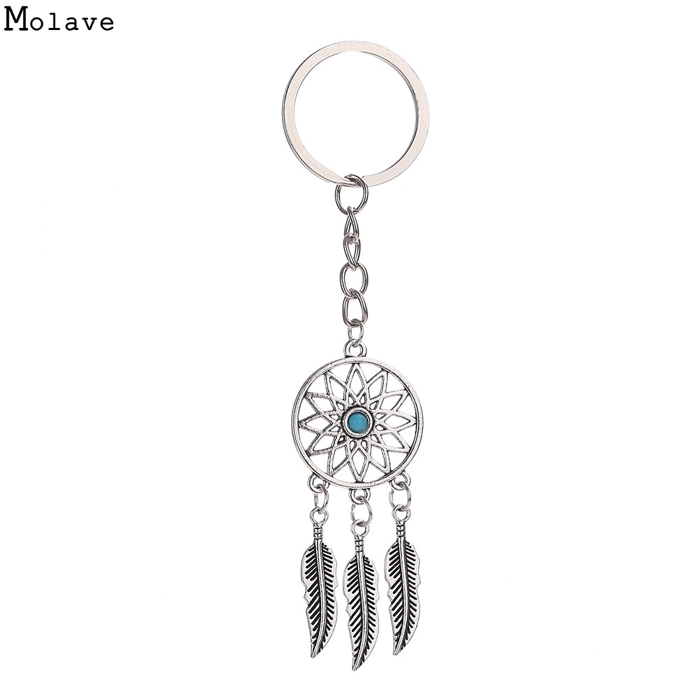 Crystal Rhinestone Dreamcatcher Keyrings Holder Purse Gift Keychains Jewelry Bag Accessorise women spring Ja11