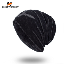 2018 New Mens Beanies knitted Cap Winter Hat For Women Knit Baggy Cap Warm Add Velvet Wool Hiking Cap Women's Hat Gorro 2016 new autumn winter star pattern women beanies knitted hat plus velvet warm gorro cap
