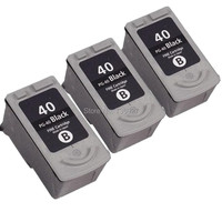 3 Black PG40 PG 40 Remanufactured Ink Cartridge For Canon PIXMA MP470 MX310 MX300 IP1600 IP1900