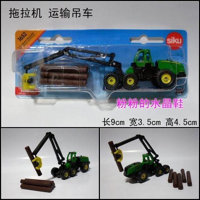 Siku tractor trailer crane original alloy car model toy