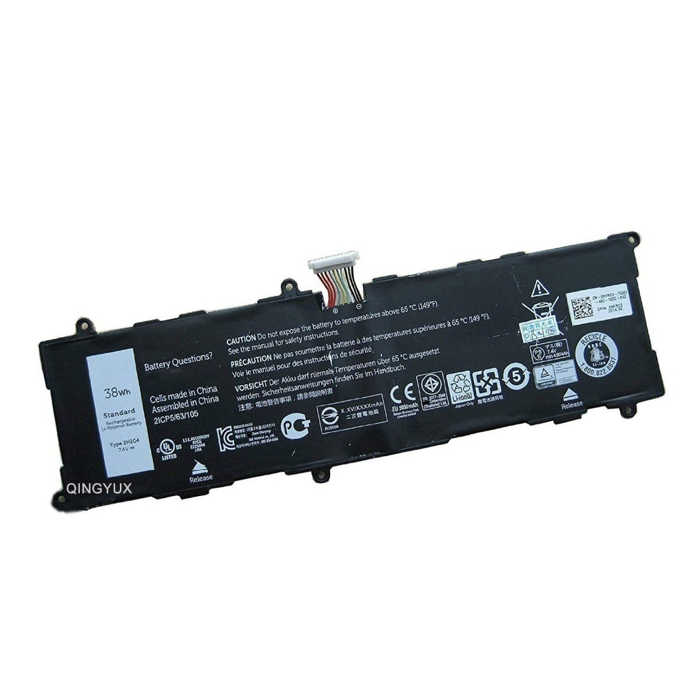 QINGYUX 2H2G4 21CP5/63/105 New 7.4V 38Wh Laptop <font><b>Battery</b></font> for <font><b>DELL</b></font> Venue 11 Pro <font><b>7140</b></font> image