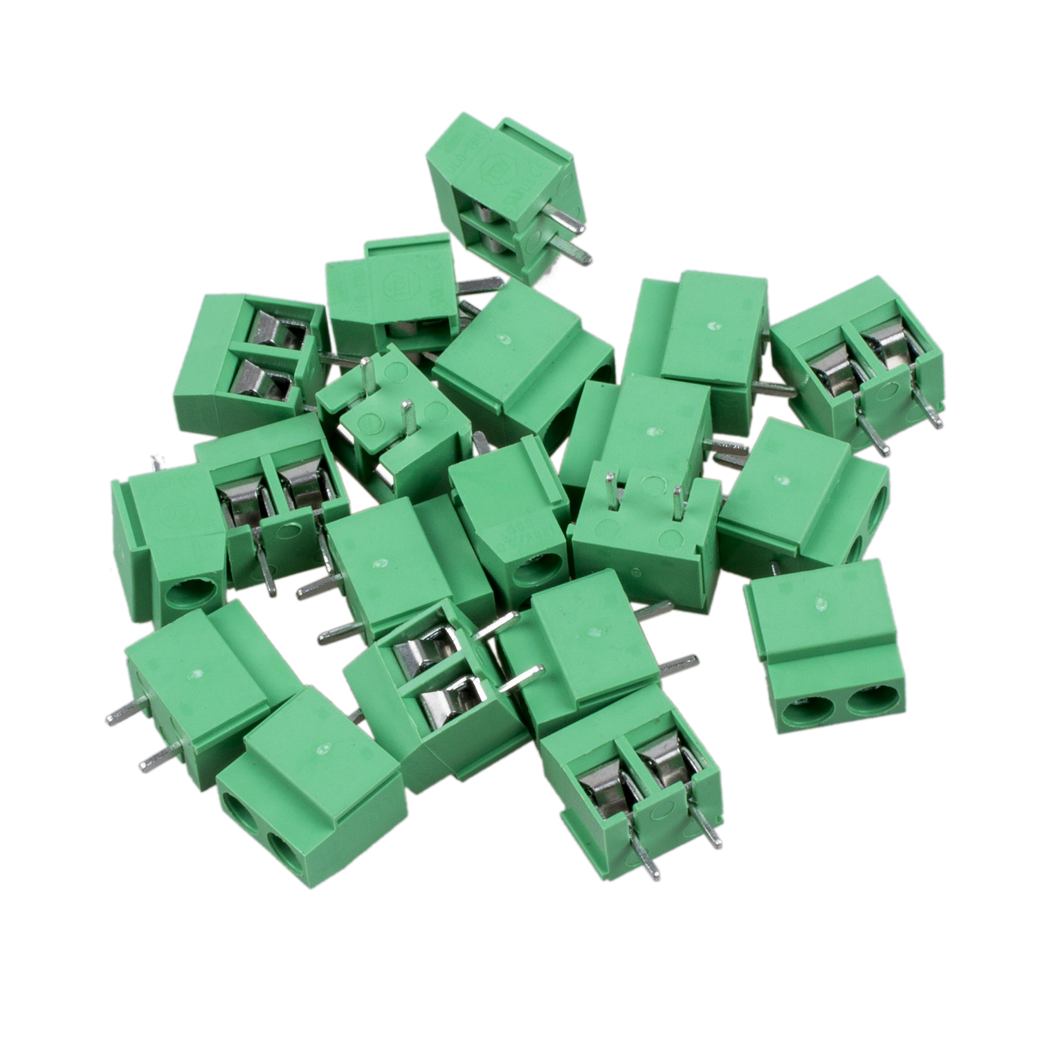 20Pcs 2 Pole 5mm Pitch PCB Mount Screw Terminal Block 8A 250V dynacord dynacord d 8a