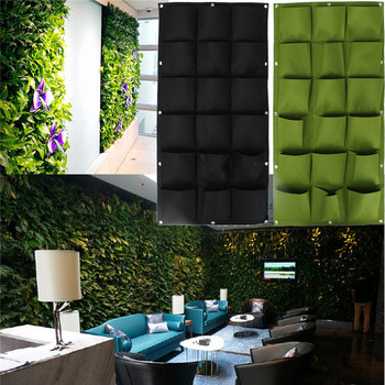 18 Pockets 50cm 100cm Hanging Plant Pots Wall Pot Vertical Garden