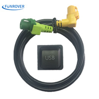 Freeshipping Car USB Cable Adapter Switch For Volkswagen RCD510 RNS315 RCD300 VW Golf Jetta MK6 Polo