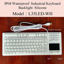 YLGF L35LED-WH IP67, IP68, Waterproof keyboard, industrial keyboard, silicone, light, backlight, embedded,LED backlight(China)
