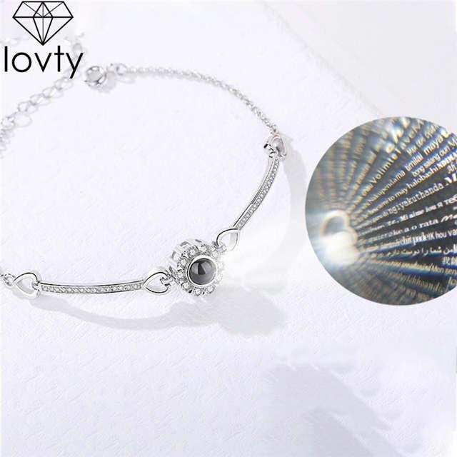 Online Shop Lovty Custom Name Projection Bracelet 925 Silver 100