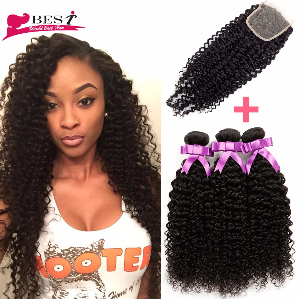Mogolian curly hair with closure