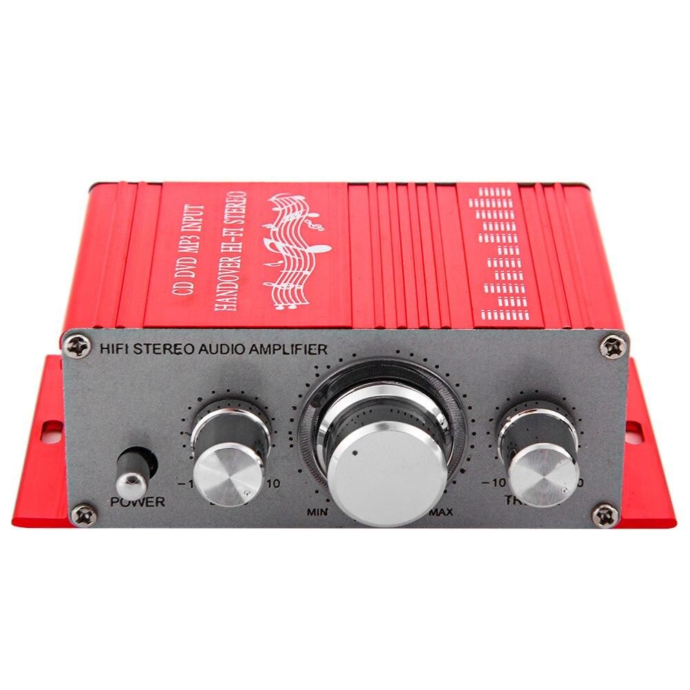 HY-2001 Hi-Fi 12 В мини стерео усилитель 2-канальный автоматический Аудио Цифровые усилители звук CD DVD MP3 вход для мотоцикла дома