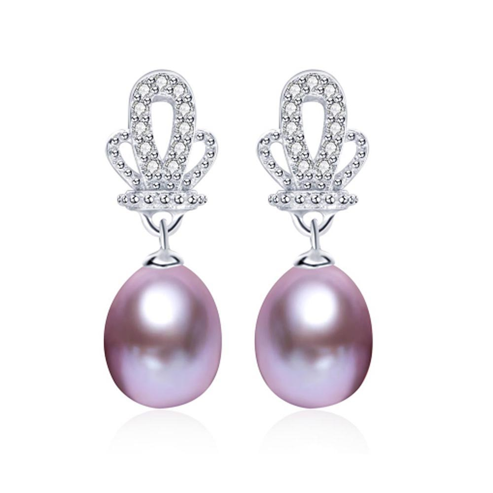 pink earring orange natural earrings freshwater pearl fanghua