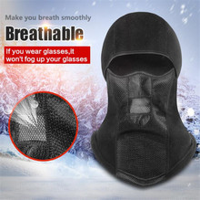 New Balaclava Winter Face Mask Motorcycle Ski Waterproof Thermal Fleece Skull Shield Moto With Breathable Vents