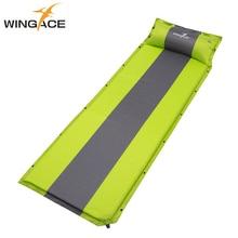 WINGACE Inflatable Camping Mat With Pillow Ultralight Air Mattress Outdoor beach Mat Automatic Inflatable Mattress Sleeping Pad
