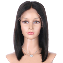 Luffy Peruvian Deep Part Lace Front Human Hair Bob Wigs