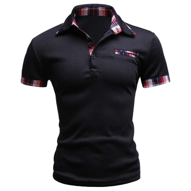 2017 Fashion Brand Men Polo Shirt Solid Short Sleeve Slim