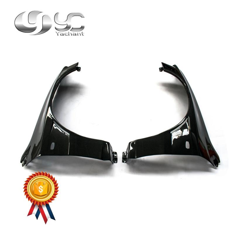Автомобильный Стайлинг щиток из углеродного волокна подходит для 01 07 Lancer Evolution 7 9 EVO 7 8 9 Voltex Cyber Version style + 20 мм переднее крыло