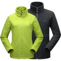 Lovers Outdoor Hiking Climbing Double Sided Fleece Jacket Winter Thermal Stand Collar Zipper Coat Men Women