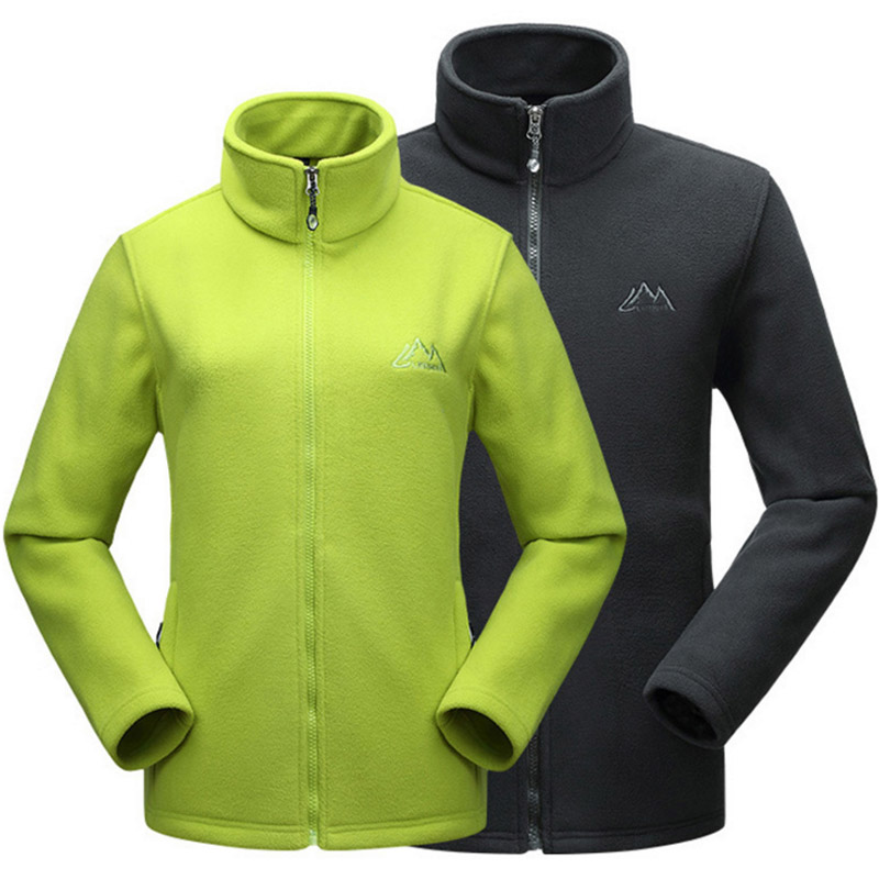 Lovers Outdoor Hiking Climbing Double sided Fleece Jacket Winter Thermal Stand Collar