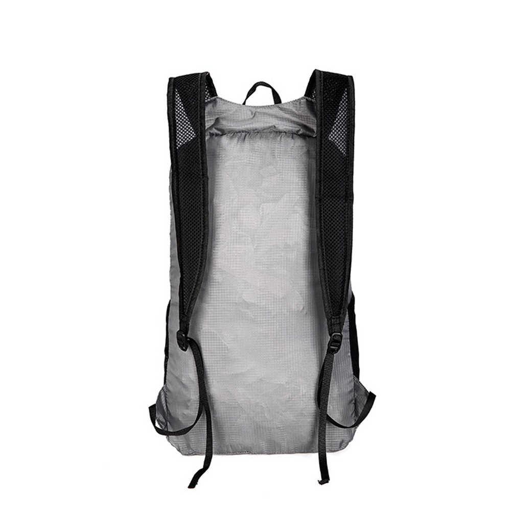 20L Ransel Olahraga Tas Ringan Portabel Lipat Gym Tas Ransel Tahan Air Ransel Tas Lipat Outdoor Pack Hiking Perjalanan